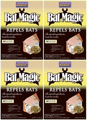 Bat Magic - (4) Bonide 876 4 pack Bat Magic All Natural Non Toxic Bat Repellent for Indoors
