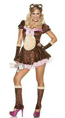 Women's Beary Cute Sexy Bear Adult Costume Size XS/S - Bear Costume Women