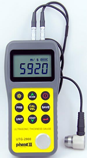 Phase II+ UTG-2900 Ultrasonic Thickness Gauge with Thru Coating