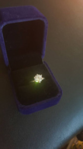 6 prong solitire sterling silver engagement ring