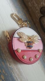 Queen Bee Key Chain Coin Purse Keyring Bag Charm GG In Three Different Colors