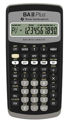 Texas Instruments BA-II Plus Financial Calculator TI-BAII