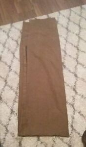 4 Brown microsuede extra wide curtain panels