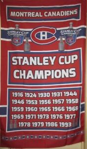 Montreal Canadiens Stanley Cup Champions Banner Flags