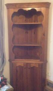 pine corner display cabinet Bligh Park Hawkesbury Area Preview
