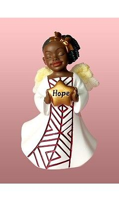 HOPE African American Angel Christmas Ornament, by United -