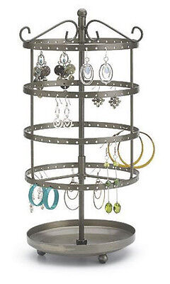 For Sale Counter Earring Rotating Carousel Display Rack - 72 Pair Raw Steel
