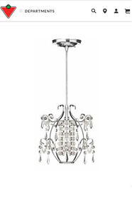 Brand New 1 light Chandelier
