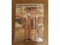 BRAND NEW MENS SIZE XL WORK DUNGAREES...NAVY & BEIGE ( 1 of each )