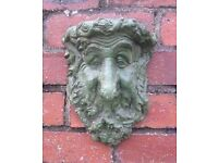 GREEN MAN / PAGAN / WICCAN CONCRETE , WALL PLAQUE