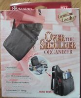 NEW leather over the shoulder organizer purse