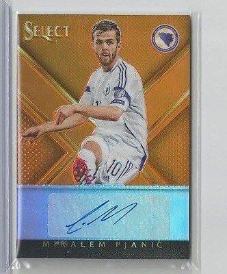2015 Panini Select Soccer Miralem Pjanic Auto #d 2/149 Orango Roma/Bosnia