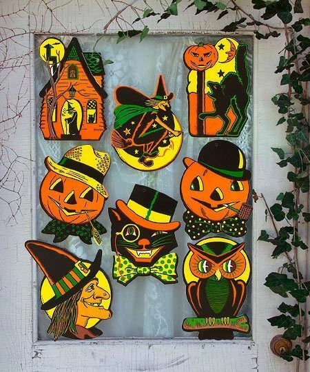 8 Vintage RETRO Styled BEISTLE Repro HALLOWEEN DECORATIONS D