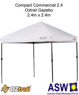 2.4m x 2.4m Oztrail Compact Commercial 2.4 Gazebo White BNIB