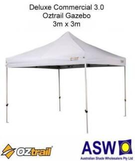 3m x 3m White Commercial 3.0 Oztrail Gazebo BNIB