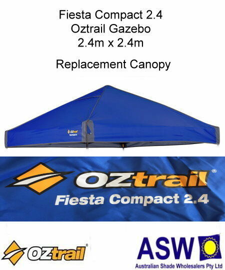 Details about 2 4m x 2 4m BLUE Gazebo Replacement Canopy suits OZTRAIL  FIESTA COMPACT Frame