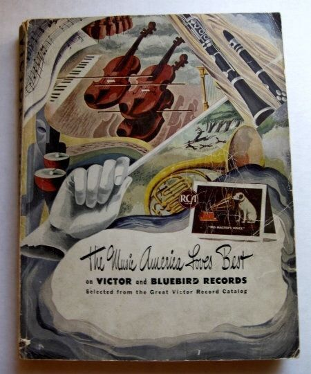 Rare 1943 Victor and Bluebird Records Record and Music Catalog 500+ Pages