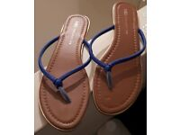 M&S Blue Sandals - Size 7 - Brand New