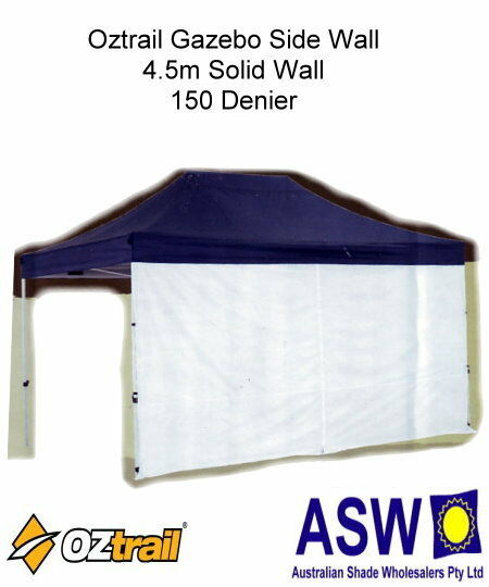 4.5m Oztrail SOLID WHITE Mega SIDE WALL Gazebo Pavilion Marquee MPGW-45S-A