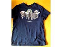 Boys Ben Sherman bulldog tshirt age 6-8 yrs