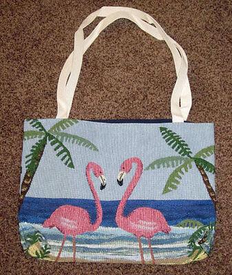 Pink Flamingo Tapestry Tote Bag