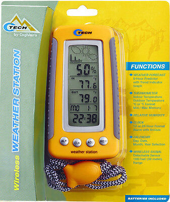 (CTECH C TECH WIRELESS INDOOR OUTDOOR HUMIDITY MIN MAX WEATHER FORECAST STATION)