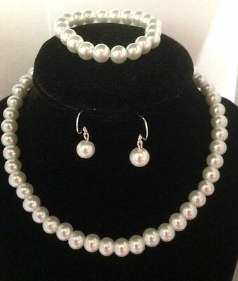 Flower Girl Necklace Set Pearl Children's Jewelry Wedding  (Flower Girl Necklace)