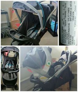 Graco Travel System Stroller/Car seat & 2 Bases
