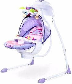 Caretero Bugies Cradle and Swing with Lights and Melodies - Purple