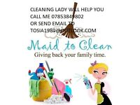 the cleaning service,