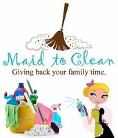 Maid to Clean Home Services (Stratford/Charlottetown Areas)