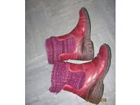 Gorgeous PINK leather boots Size 8