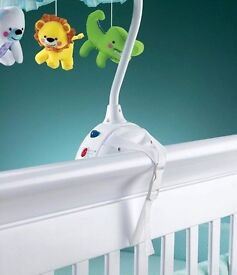 Butterfly Music Rolling Rotary Screen Smart Baby 2-in-1 Projection Mobile