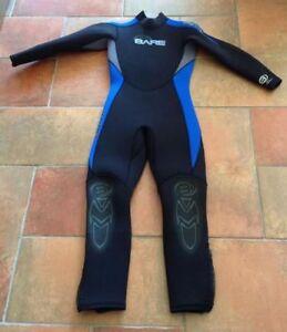 Ensemble Wet Suit 2x7mm taille pour adolescent Bare Velocity