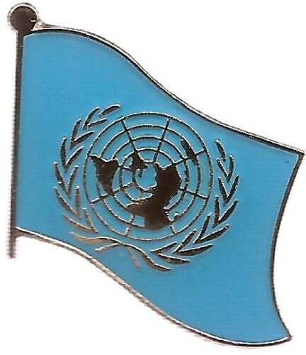 LOT OF 12 United Nation Flag Lapel Pins - UN Flag Pin