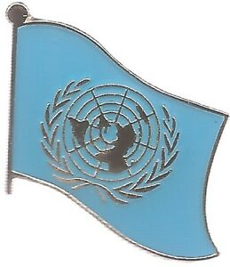 50 YEAR OLD UNITED NATIONS FLAG LAPEL PIN