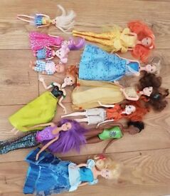 Barbie dolls Disney princesses and accessories