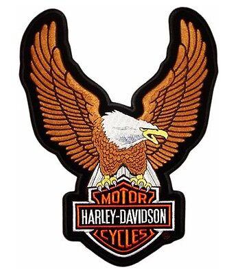 Grande Parche Patch Águila 24x34 Oro Harley Davidson Chaleco Termoadesiva