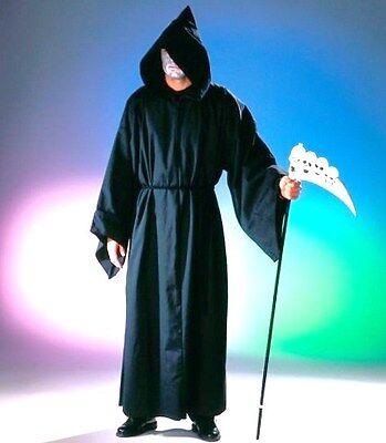 Kostüm Henker Tod Mönch Kapuzenmann Halloween Mantel mit Kapuze (Henkers Kapuze Kostüm)