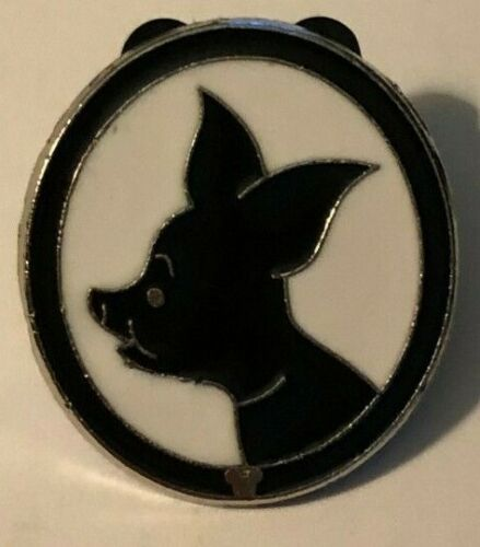 DISNEY PIN PIGLET (Winnie the Pooh) SILHOUETTE, BLACK & WHITE PROFILE OVAL, USED