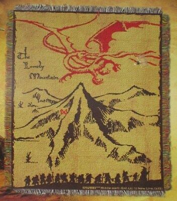 The Hobbit Lonely Mountain Smaug the Dragon Throw Gift Blanket Lord of the Rings