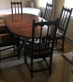 Ercol extendable dining table & 6 chairs