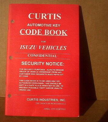 Curtis Isuzu Vehicles Key Code Book April 1995 New Old Stock