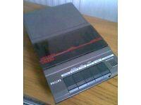 1970's Philips D6330 Portable Cassette Player/Recorder