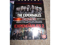 *Reduced to Clear* Bluray Films, THE EXPENDABLES 1 & 2, Double Disc Pack (Blueray/Blu Ray/Blue Ray)