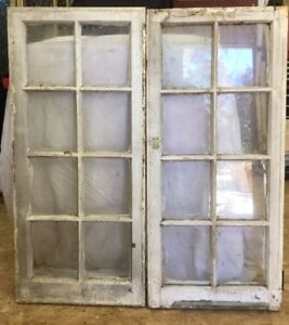 Pair of 8 Pane Antique Windows