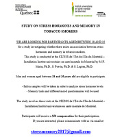 STUDY ON STRESS HORMONES AND MEMORY IN TOBACCO SMOKERS