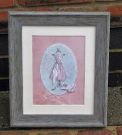 Handmade Ladies Pink Dress Collage Picture - Bargain Price