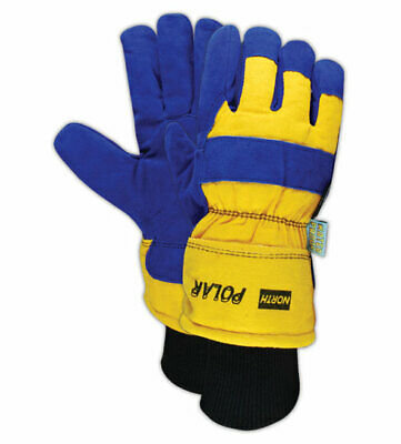 North Polar Mens Insulated Split Leather Insulated Gloves Pair