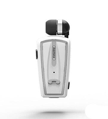 Collar Clip-On Voice Prompt Telescop Bluetooth Earphone Mic